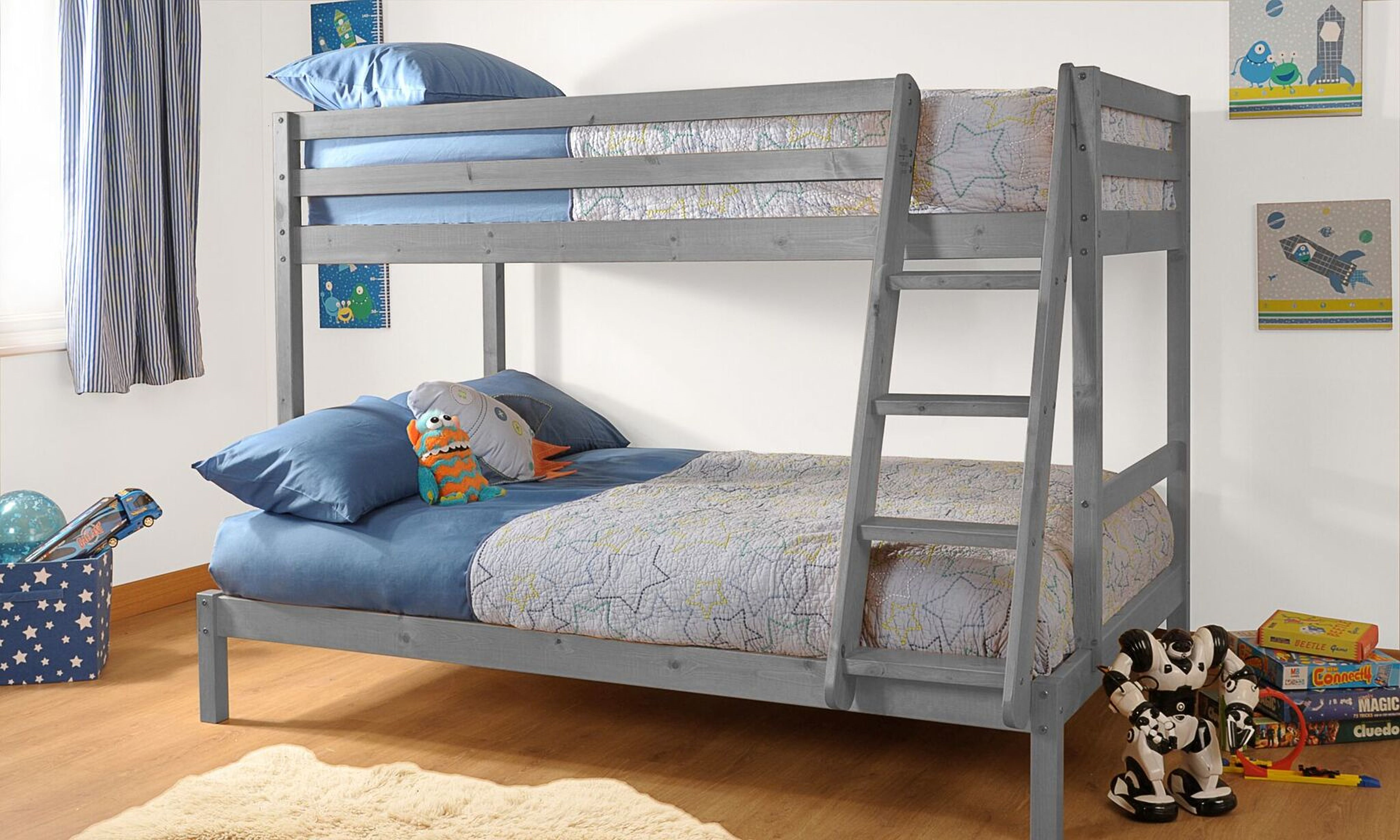 Picture of: Durban Wooden Triple Bunk Bed Available With Or Without Mattresses Uk Furniture 4u