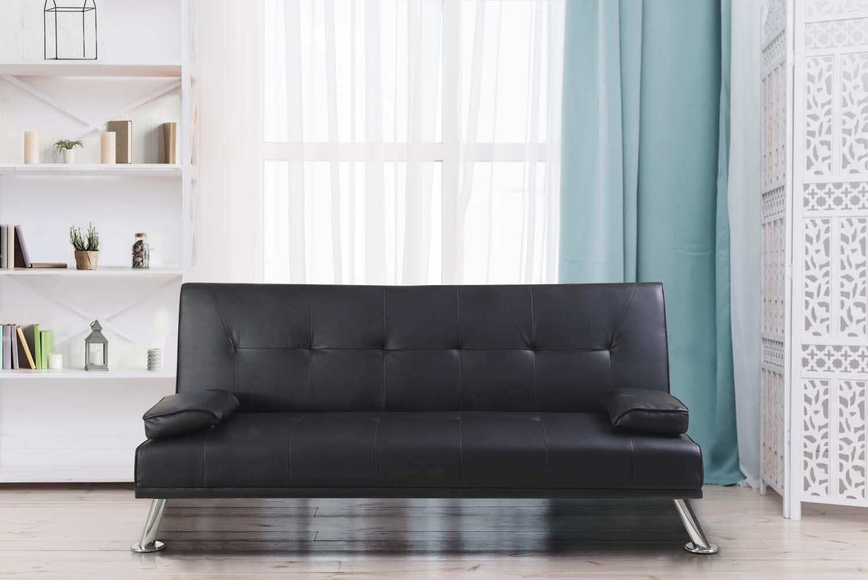 Merlot Faux Leather Italian Style Sofa
