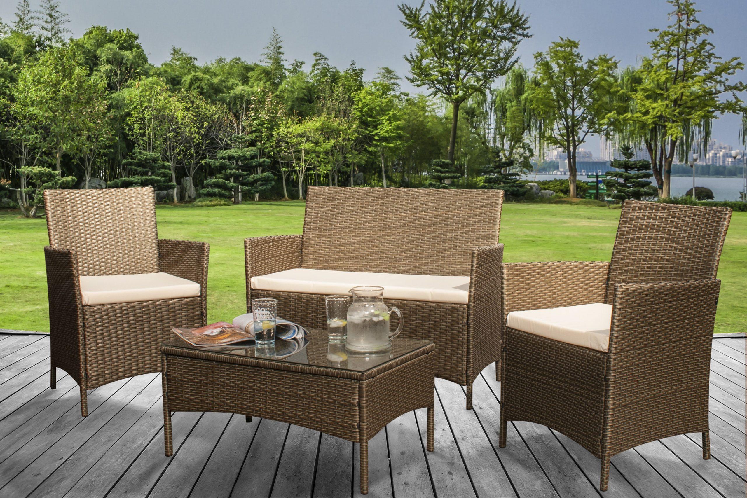 Eco Rattan Garden Furniture Set   UK Furniture 4U