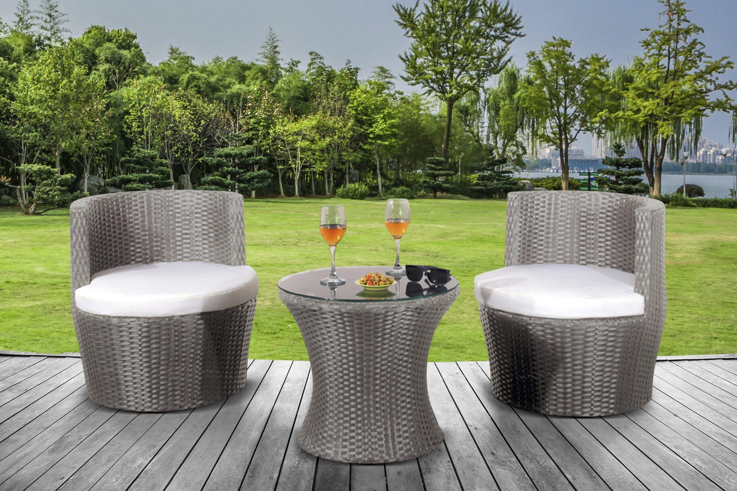 Aruba Balcony Rattan Set   UK Furniture 4U